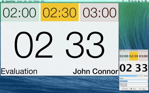 Speech Timer Display Control Yellow