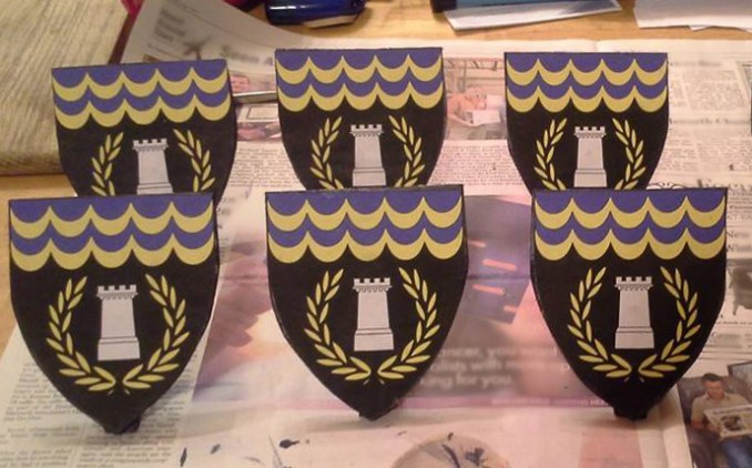 Heraldic device tiny shields of the Canton of Basingestoches