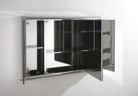 Biscay 80cm x 55cm Triple Door Three Door Mirror Bathroom ...