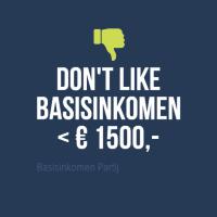 Don't like basisinkomen beneden 1500