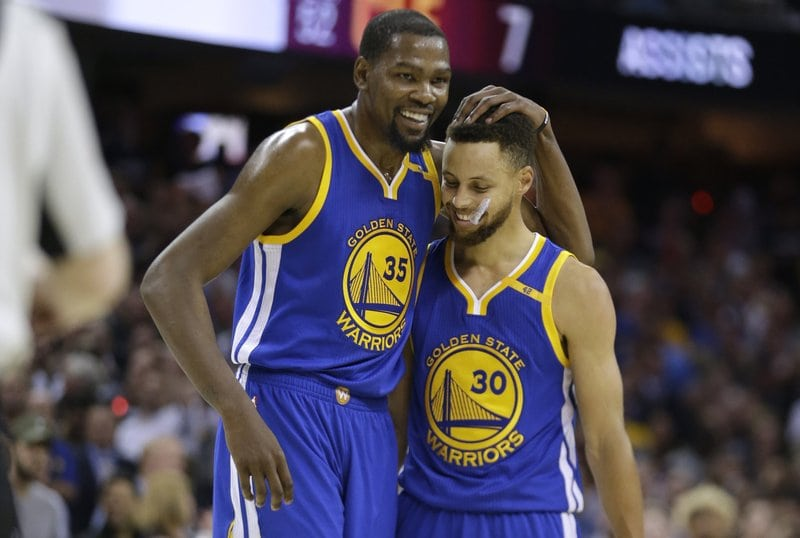 Kevin Durant and Stephen Curry Basketball