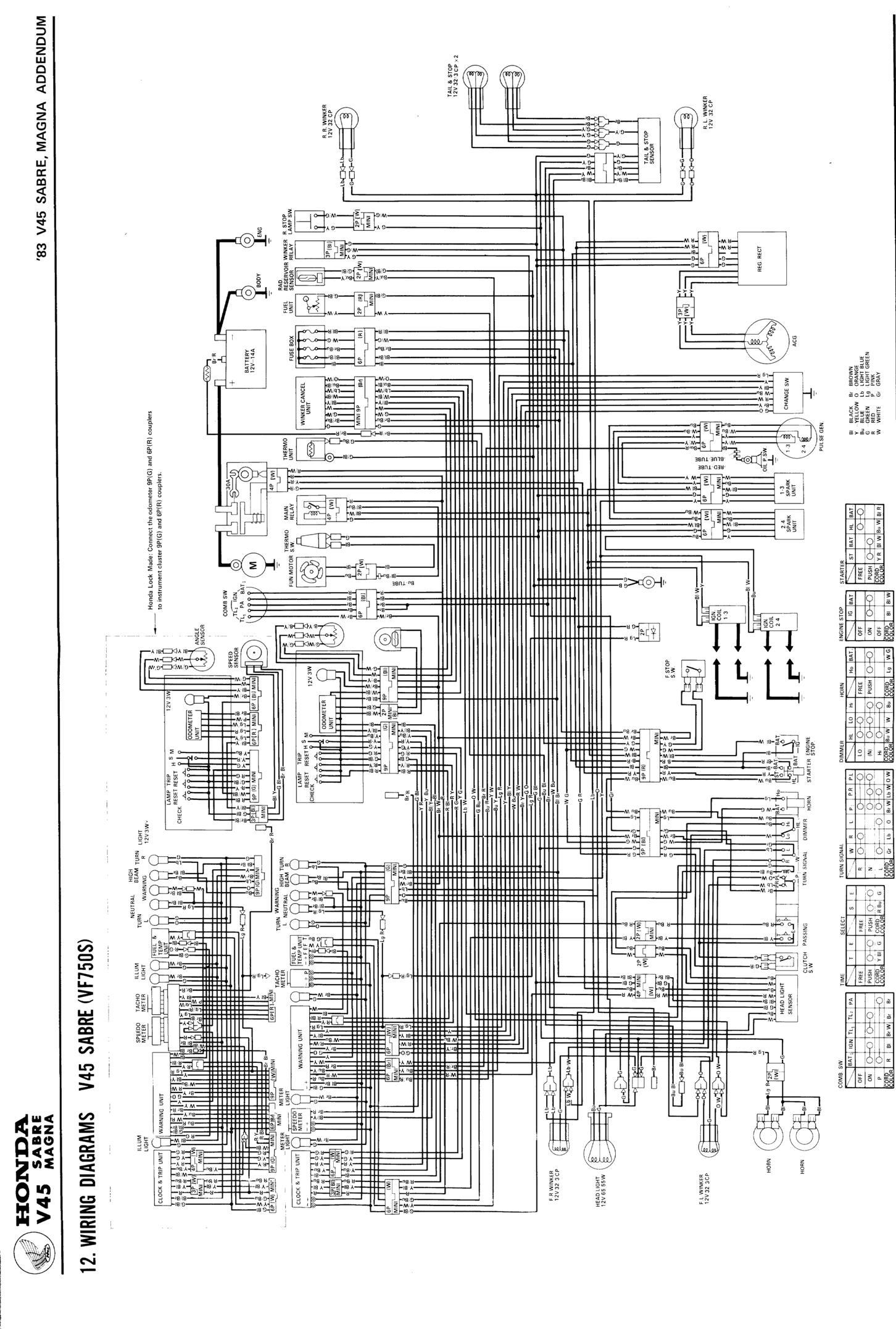 honda v45 wiring diagram