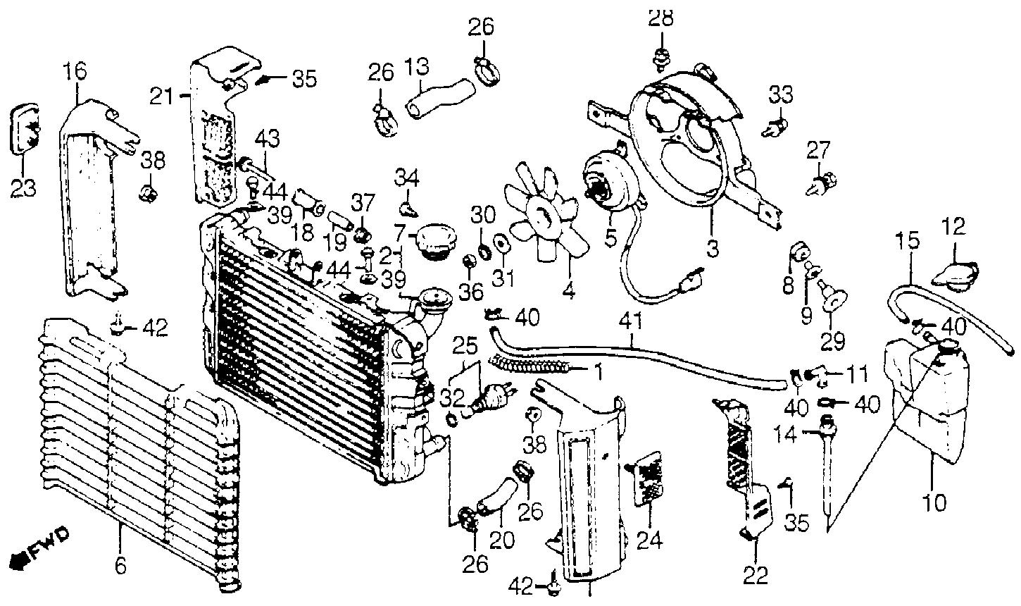 2004 jeep liberty cooling system diagram