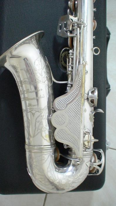 alto sax, Maurice Boiste, vintage French saxophone, fancy clothes guard,