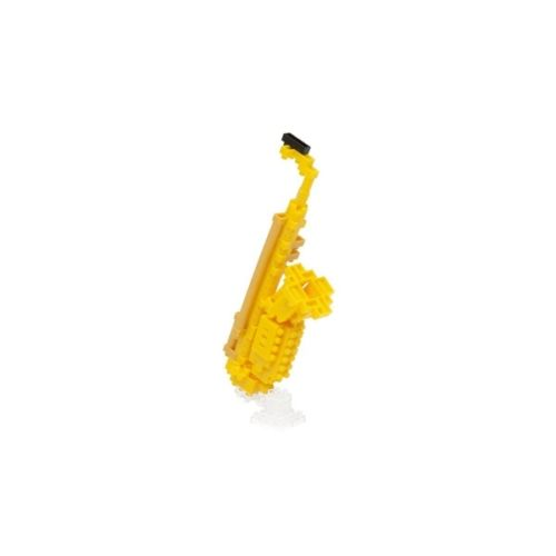 Nanoblock saxophone, building blocks, saxophone-shaped toy