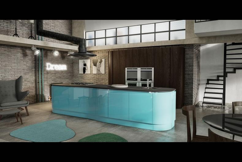Cucina Berloni B50 | Cucine In Stile Industriale, Materiche ...