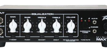 Peavey Releases MiniMAX 500 Watt Bass Amplifier Head