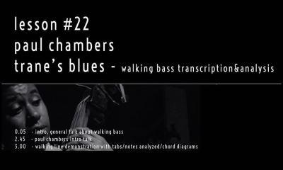 walking bass line by Paul Chambers