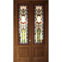 Stained Glass Doors - custom designed