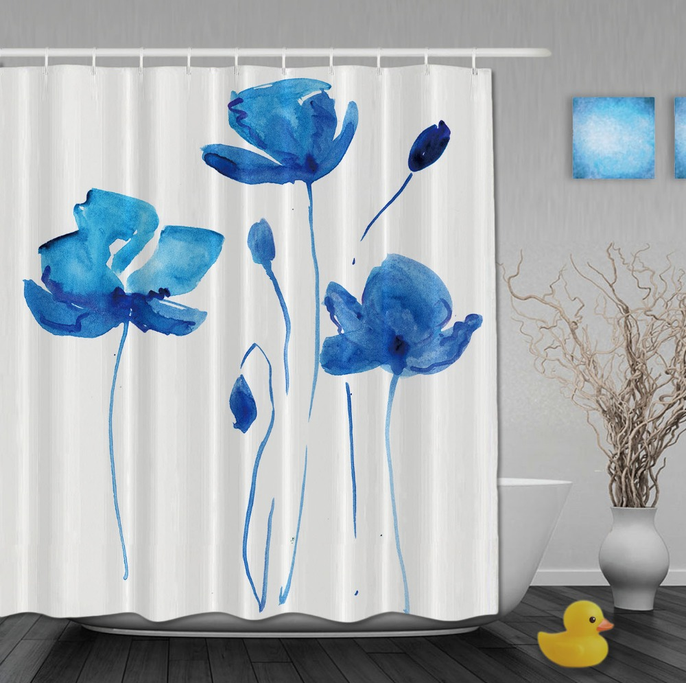 China Blue Curtains Shower Curtains At Bed Bath And Beyond Blue Flower
