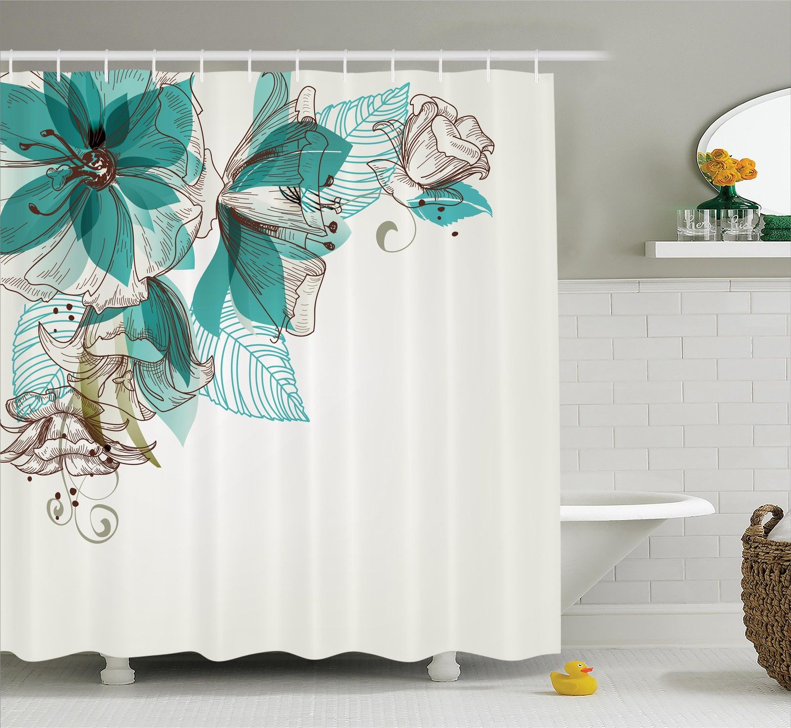 Kohls Com Shower Curtains Shower Curtains At Kohls Flowers Buds Leaf