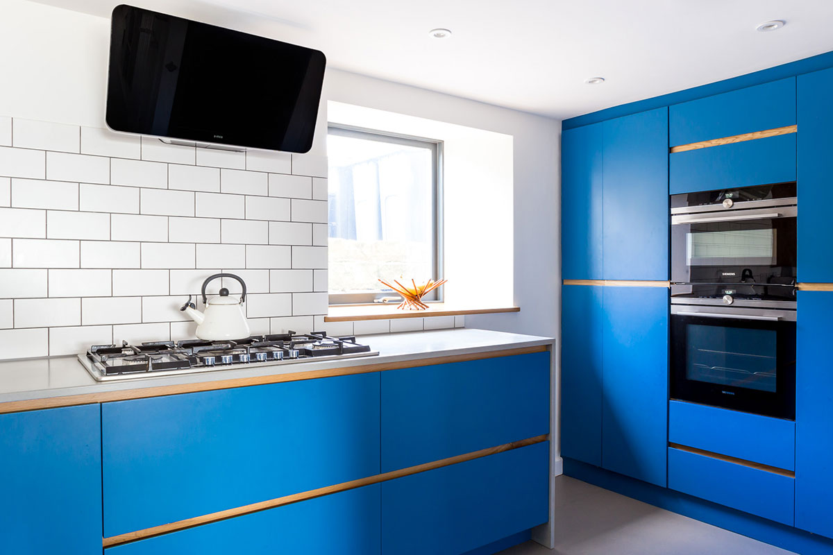 Modern Kitchen Designs Buy Online Electric Blue Modern Kitchen