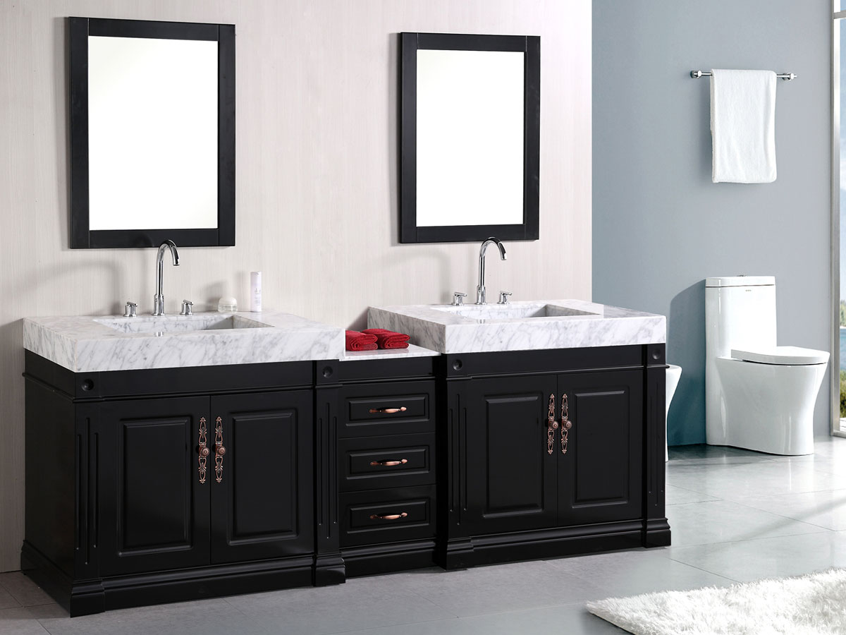 Two Sink Vanities 88 Quot Odyssey Double Sink Vanity Bathgems