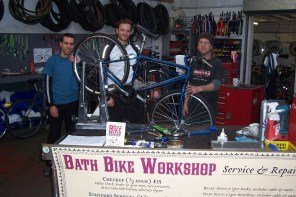 Julian House offers many opportunities for the homeless to gain skills, such as the Bath Bike Workshop project.