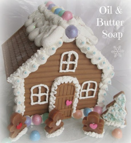 gingerbread house made of soap