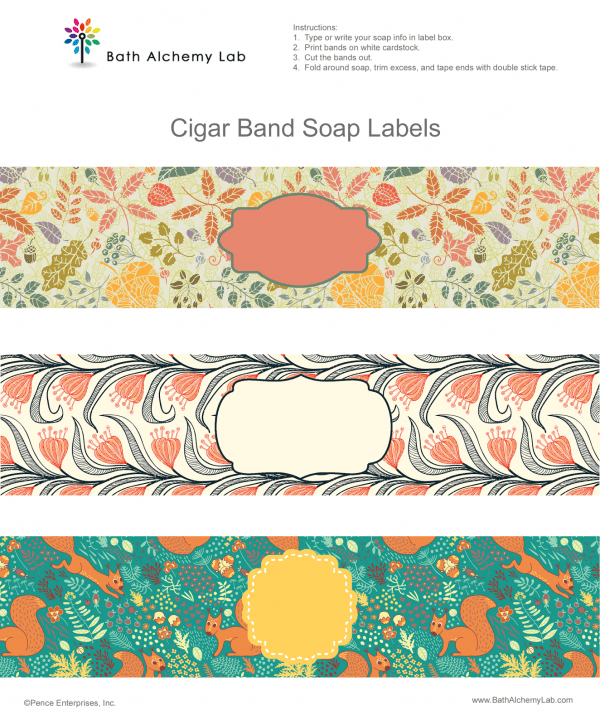 free fall soap labels