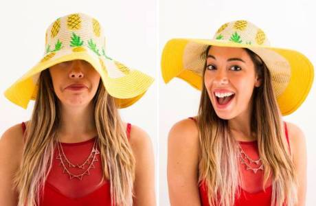 Style Me Quick – Pineapple Beach Hat