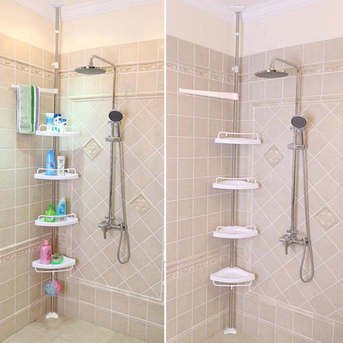Corner Shower Shelves Unit: Perfect for Small Bathroom