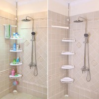 Corner Shower Shelves Unit: Perfect for Small Bathroom