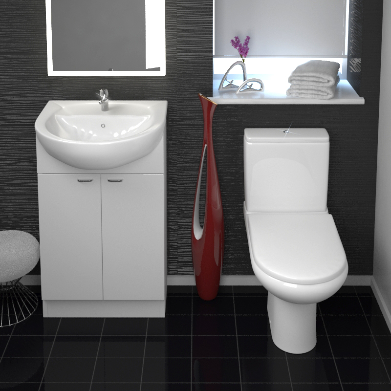 Bathroom Mirror With Storage Yubo Compact Cloakroom Suite Buy Online At Bathroom City