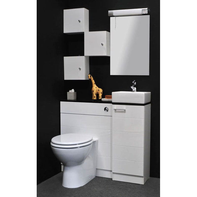 Beveled Bathroom Vanity Mirror Spark Mercury White Cloakroom Suite Buy Online At Bathroom