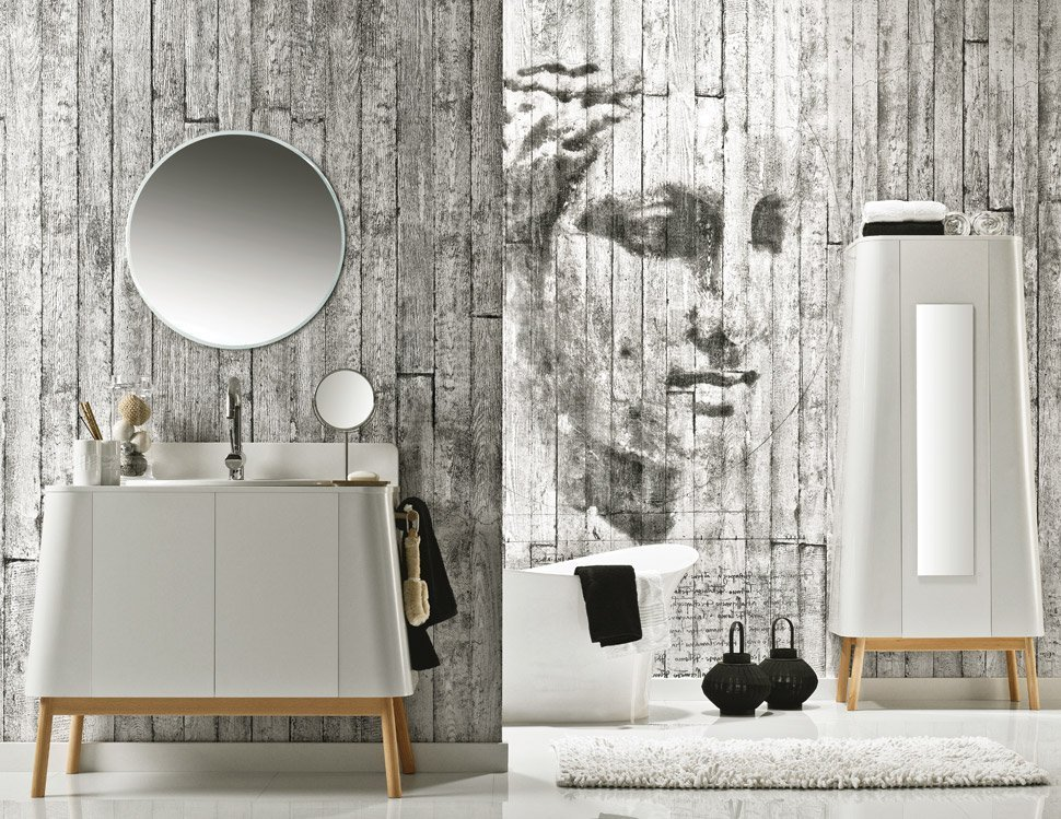 3d Effect Wallpaper For Living Room Concrete Art Bathroom Cladding Direct