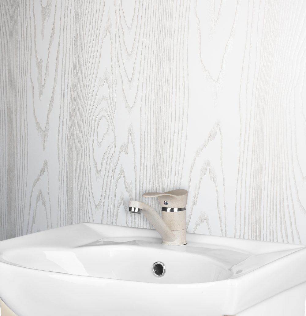 White Wood Bathroom Cladding Store