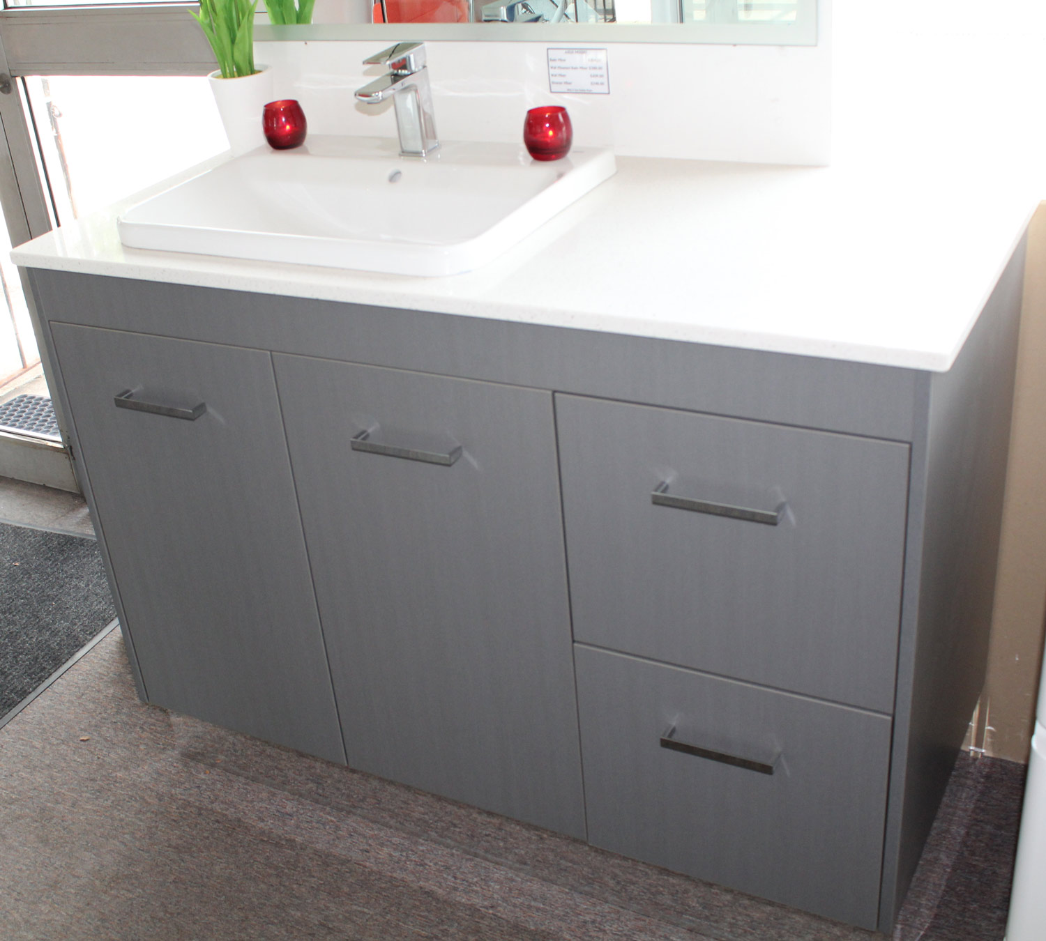 1200mm Vanity Units Custom Vanity Unit 1200mm With Caesarstone Top Bathroom