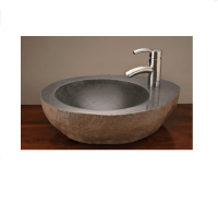 "18""-22"" Stone Forest Natural Vessel Sink w/faucet mount ..."