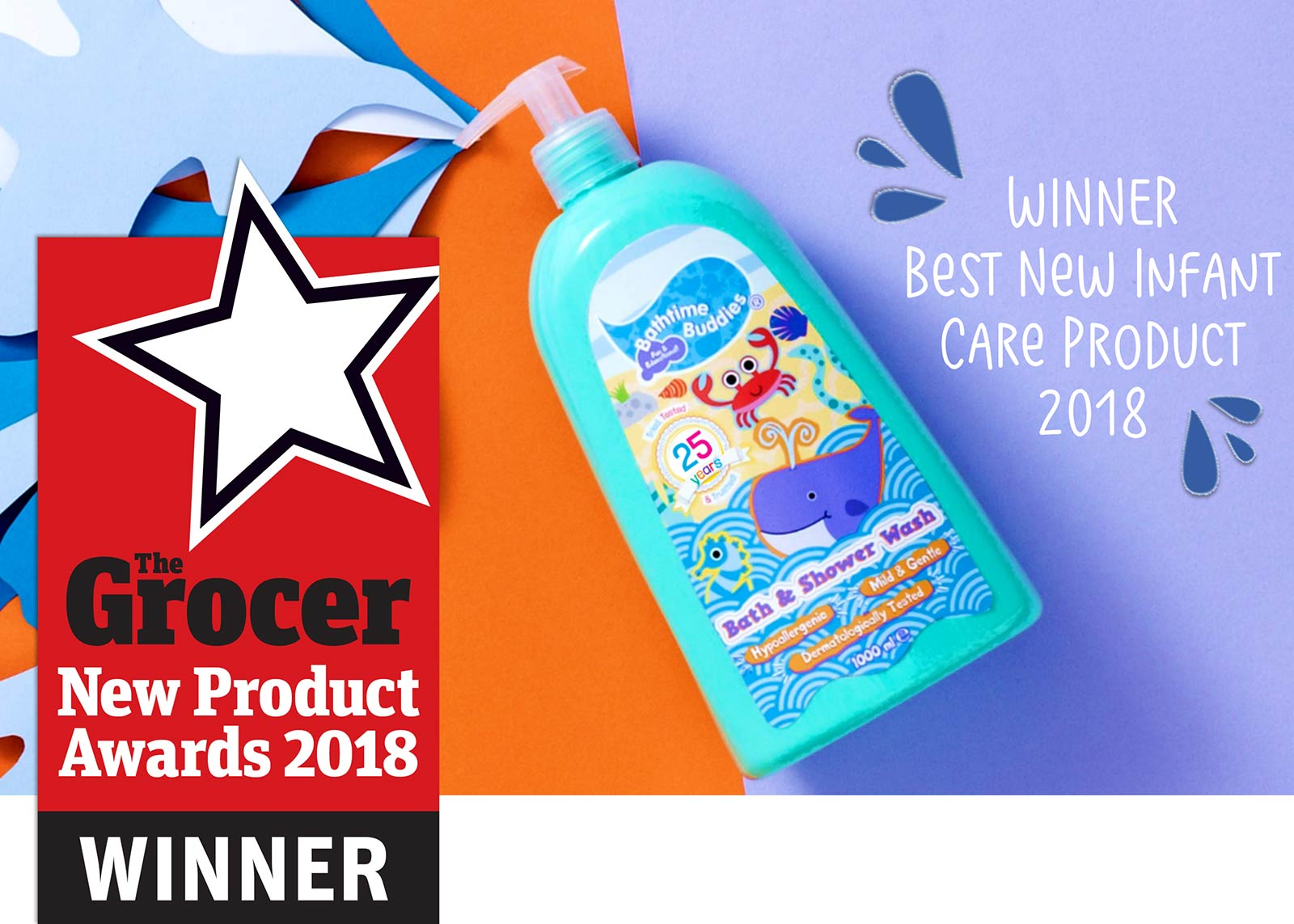 Infant Bath Time Products Bathtime Buddies Bath Shower Wash Wins A Grocer Award