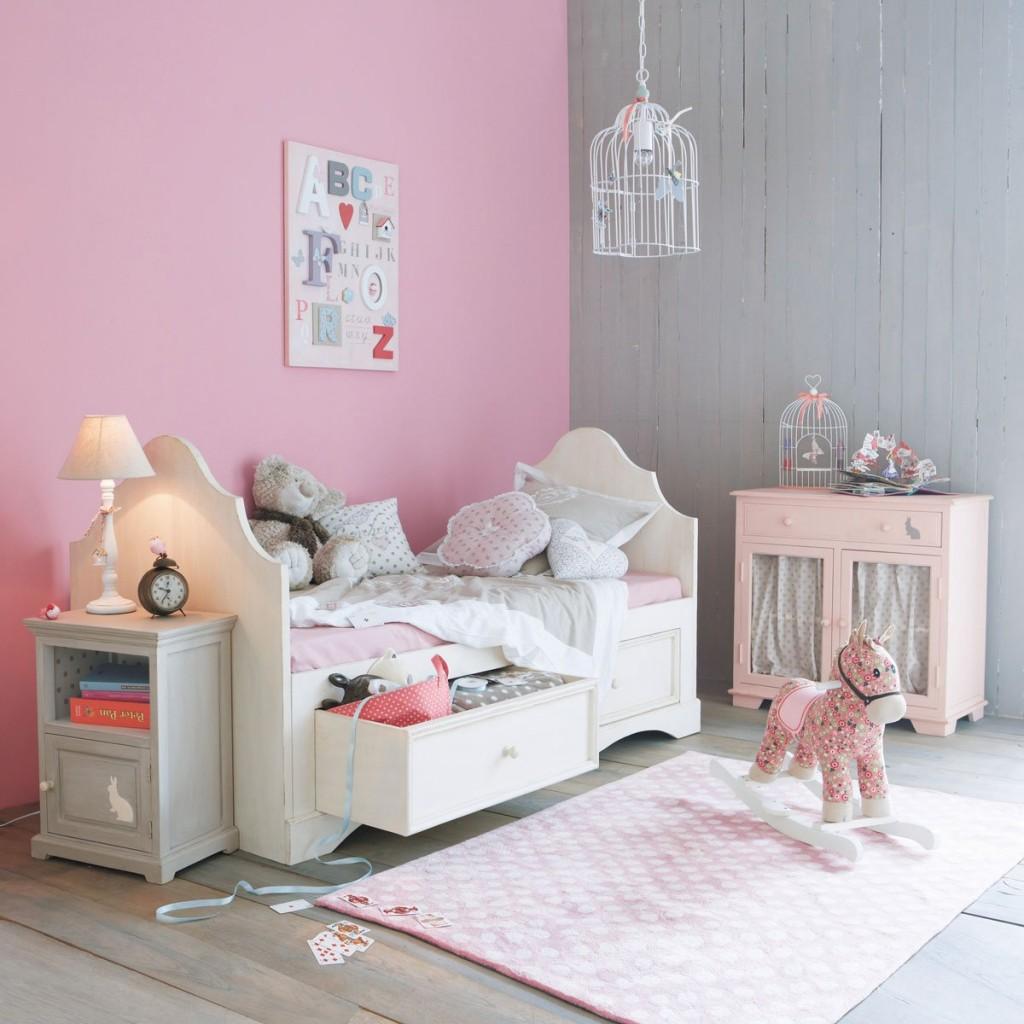 Peinture Chambre Gris Et Rose | Peindre Une Chambre En Gris Et Blanc ...
