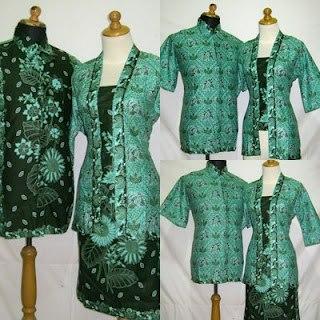 Setelan Rok Dan Baju Batik Kerja