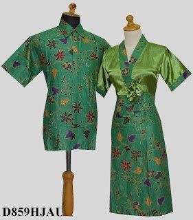 D Hijau Sarimbit Batik Model Dress Kimono Tempel Mawar Samping Rp