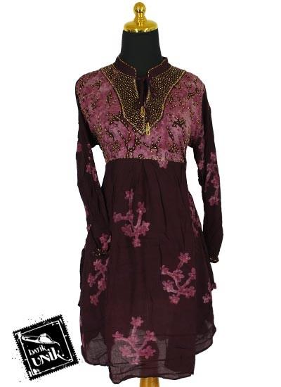 Baju Batik Sarimbit Dress Exklusif Motif Cap Rumput Laut Baju Batik