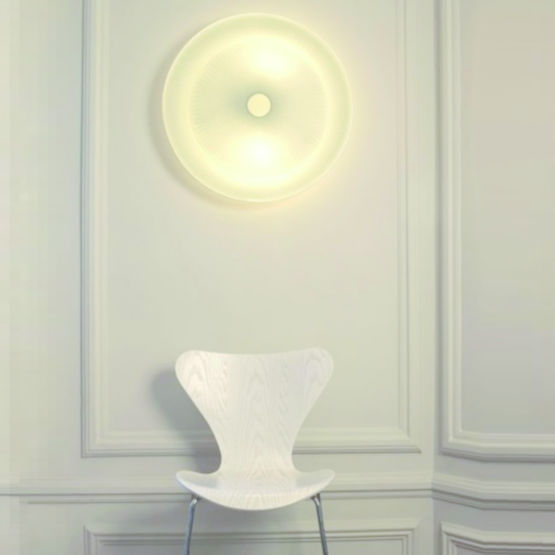 Eclairage Public Led Prix Applique Murale Design Led En Papier Blanc | Diva - Nedgis