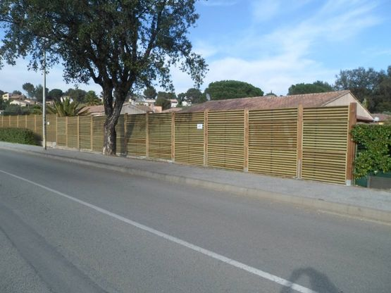 Insonorisation Mur Clôture Antibruit | Noistop Wood Elba - Duperret