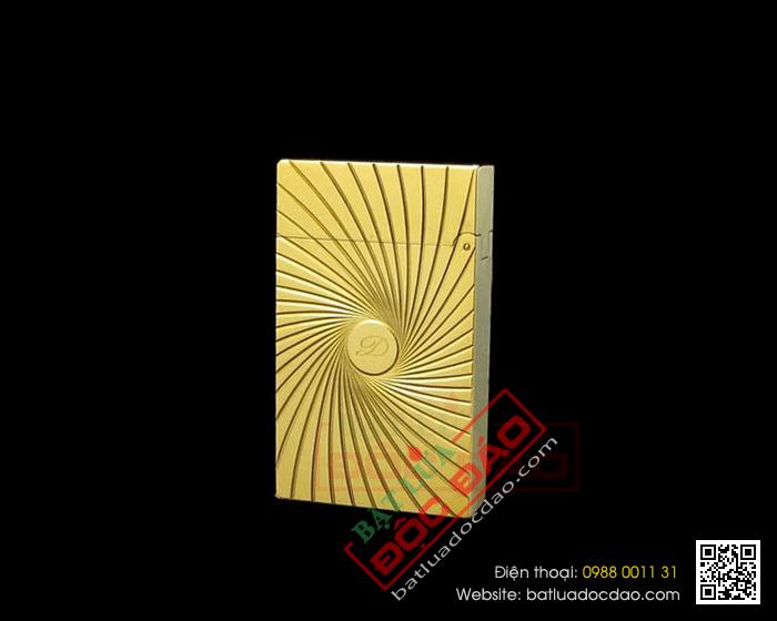 Bật lửa S.T.Dupont màu vàng xoay tròn khắc chữ S.T.Dupont - Mã SP: BLD085