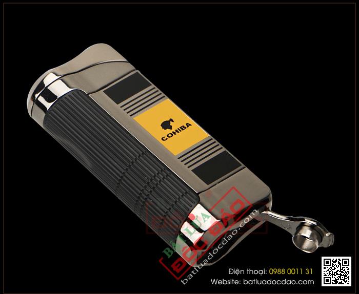 Bật lửa khò hút Cigar (xì gà) cohiba chính hãng 3 tia lửa có thiết bị đục xì gà - Mã SP: BLH085
