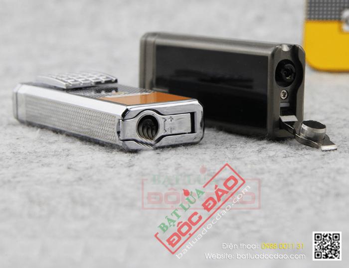Bật lửa khò hút Cigar Cohiba chính hãng loại 2 tia lửa có thiết bị đục Xì gà - Mã SP: BLH629