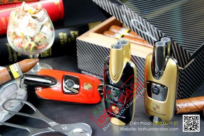 Bật lửa khò hút Cigar Cohiba chính hãng loại 2 tia lửa - Mã SP: BLH105