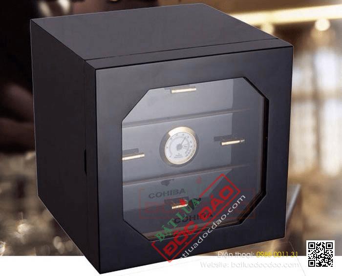 Mẫu hộp bảo quản xì gà, tủ bảo quản xì gà Cohiba 60 điếu H007