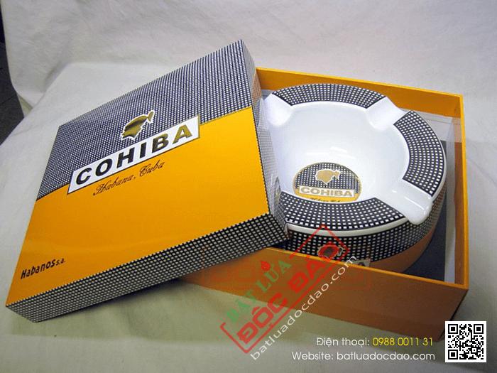 Gạt tàn Cigar (xì gà) chính hãng Cohiba chất liệu gốm sứ cao cấp - Mã SP: P910-3A
