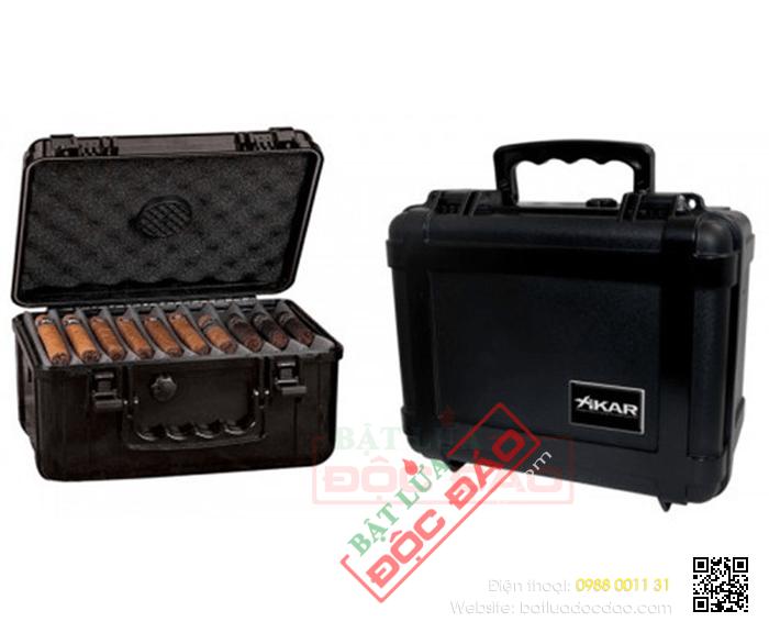 Hộp giữ ẩm Cigar Xikar màu đen kiểu vali- Mã SP: 280XL