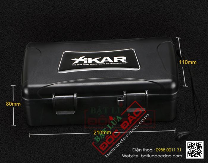 Hộp giữ ẩm Cigar (xì gà) Xikar loại nhỏ 4 điếu kiểu vali chính hãng- Mã SP: XH10
