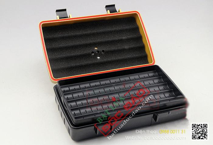 Hộp giữ ẩm Cigar (xì gà) Humidor loại 10 điếu kiểu dáng vali - Mã SP: PC081