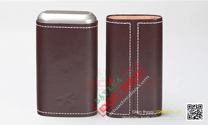Bao da đựng Cigar Xikar loại 3 điếu màu nâu cao cấp - Mã SP: 243CN