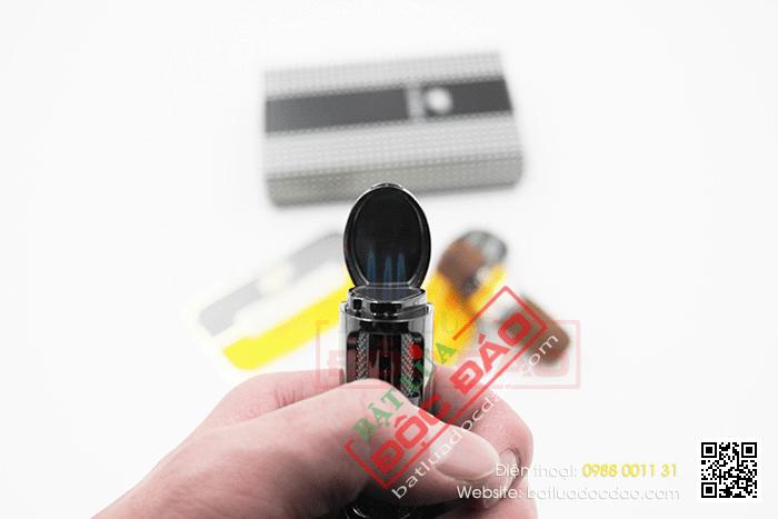 Bật lửa khò hút Cigar Cohiba chính hãng loại 3 tia lửa khò có thiết bị đục xì gà - Mã SP: BLH074