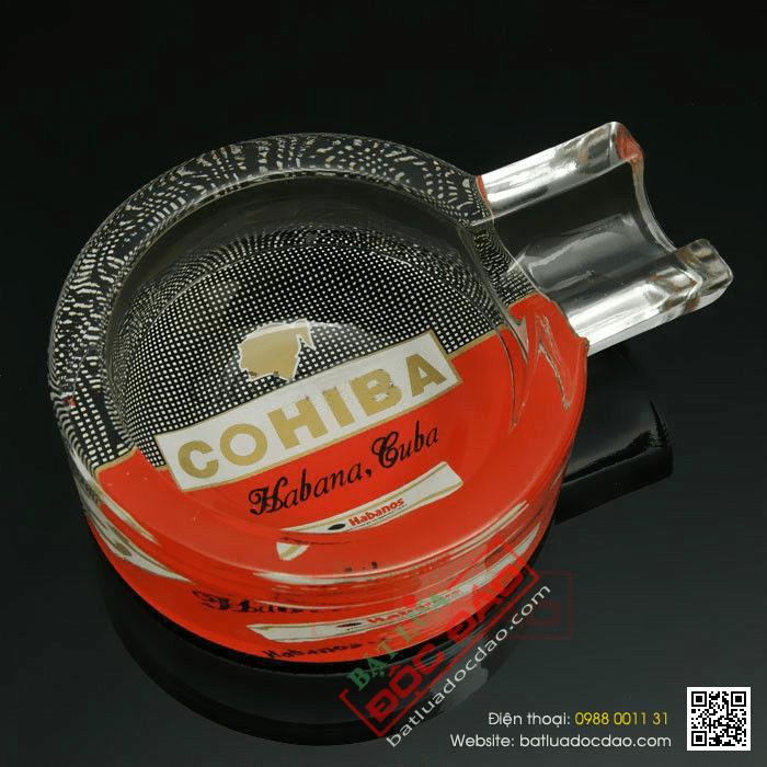 Gạt tàn Cigar Cohiba thủy tinh chính hãng loại 1 điếu - Mã SP: G113A
