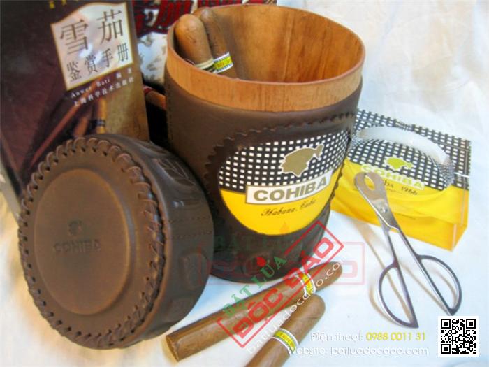 Ống đựng Cigar Cohiba chính hãng màu nâu - Mã SP: D011