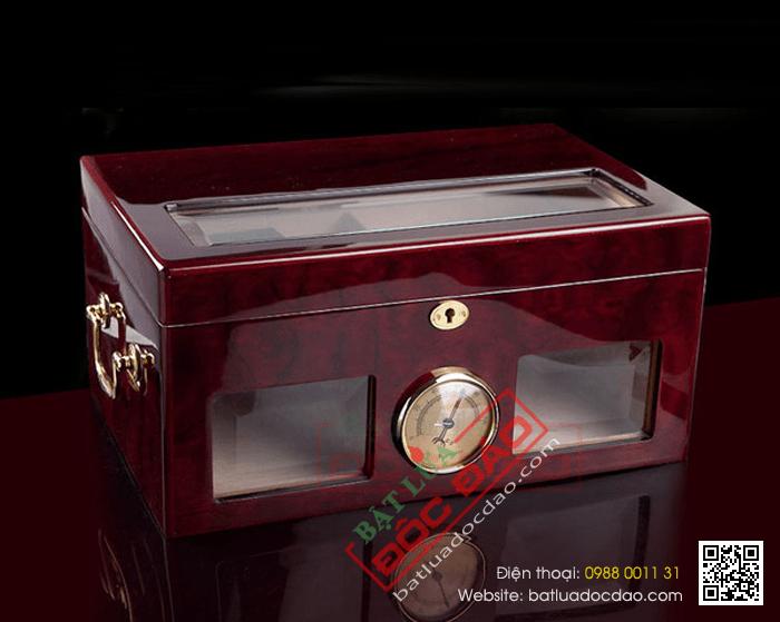 Hộp giữ ẩm Cigar Cohiba màu nâu cao cấp - Mã SP: H532B
